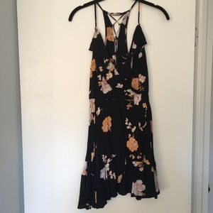 Tie/zip up floral dress